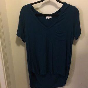 Blue Pocket Top